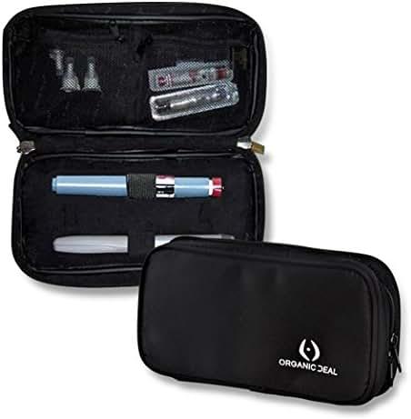 Insulin Travel Case - Epipen Carrying Case - Insulin Pen Case keeps diab medication cool - Diabetic Case - Freeze & Go - Incl. 2 Ice Packs (pens & vials not incl) - FDA-TSA compliant small travel bag