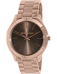Michael Kors Womens Slim Runway Quartz Stainless Steel Watch, Color:Rose Gold-Toned (Model: MK3181)
