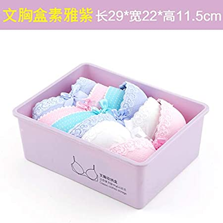 Hogar de plástico armario ropa interior cajón cajón ropa interior caja de acabado calzoncillos sujetador calcetines caja de almacenamiento , sin texto caja de sujetador elegante púrpura: Amazon.es: Hogar