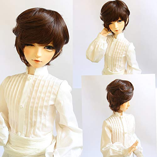 1/3 BJD Doll Wig High Temperature Synthetic Fiber Blended Short Boy Man Hair Wig BJD Doll Wigs for 1/3 BJD Doll for $<!--$13.49-->
