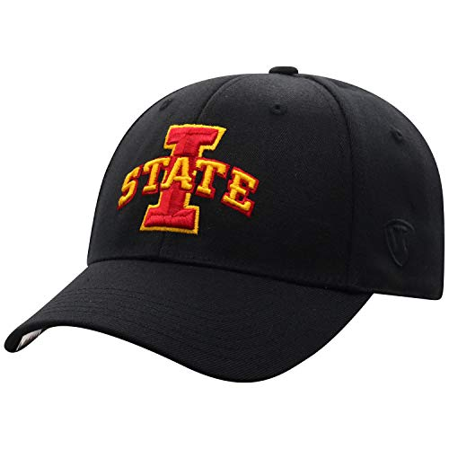 Top of the World Iowa State Cyclones Men's Memory Fit Hat Icon, Black, One Fit