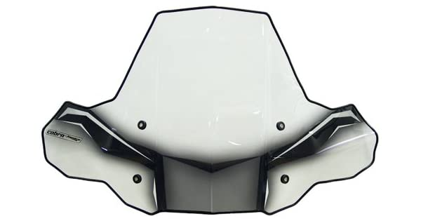 Camco Black Boar ATV Wraparound Windshield Hardware-Easily Mounts onto Your Handlebar to Deflect Wind Rain Mud and Insects 66031