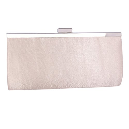 Grey Bag Clasp Ladies Satin Clutch Cocktail Pleated Adoptfade Evening Fashion Metal Frame Bag 6P7qwxwA