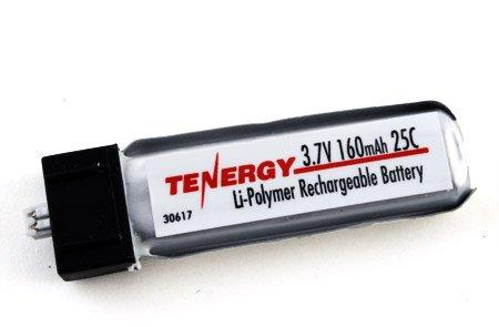 (Tenergy 3.7V 160mAh 25C LIPO Battery for Micro Helicopter: e-Flite MSR X/ Parkzone/ Vapor, Cessna / Micro Citabria)