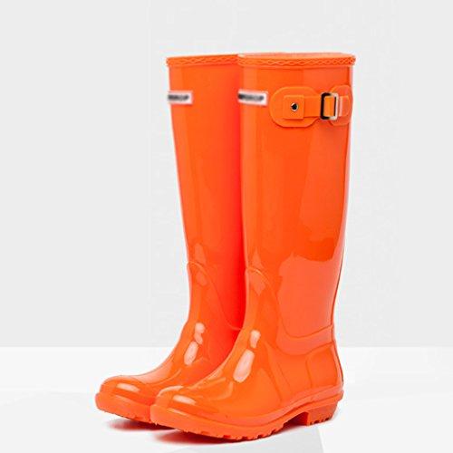 Lavoro Moda Sicurezza Acqua Attrezzature Gomma Orange 14 Alte Calzature Altezza Orange Ms Pollici Per Antiscivolo Primavera 37 Estate In Pvc Size Scarpe Stivali Impermeabili color Ed Sul wXfzxIzdn