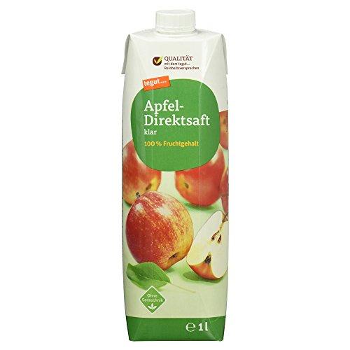 tegut… gute Lebensmittel Apfel-Direktsaft klar 100% Fruchtgehalt, ohne Gentechnik, 1er Pack (1 x 1 l)