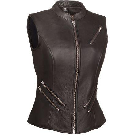 First Manufacturing Mens Fairmont Women/'s Leather Vest Black, Large FIL512NOC-Black-L-Fairmont