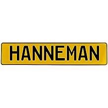 Vintage Parts 654551 Wall Art (Hanneman Yellow Stamped Aluminum Street Sign Mancave)