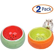 Tfwadmx Hamster Bowl, Ceramic Guinea Pig Water Bowl Small Animal Food Dish for Syrian Hamster Rabbit Gerbil Chinchilla Hedgehog Sugar Glider Rat (2 Pcs)