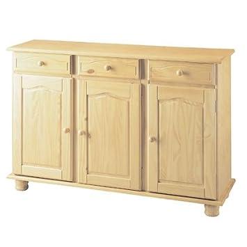 Mobile per la casa in legno grezzo 3 ante+3 cassetti mod. Altea ...