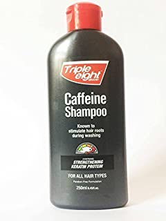 59caf1360 TRIPLE EIGHT CAFFEINE SHAMPOO STIMULATE HAIR ROOTS 250ml Free Fast Delivery
