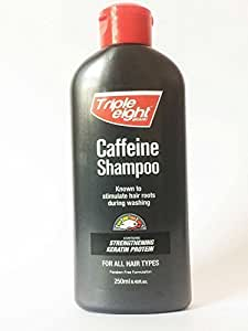 TRIPLE EIGHT CAFFEINE SHAMPOO STIMULATE HAIR ROOTS 250ml Free Fast Delivery