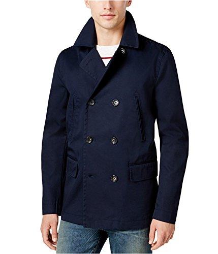 Dover Down Jacket (Tommy Hilfiger Midnight Mens Large Dover Peacoat Jacket Blue L)