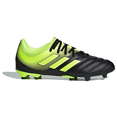 adidas Unisex Copa 19.3 Firm Ground, Black Solar Yellow, 4.5 M US Big Kid
