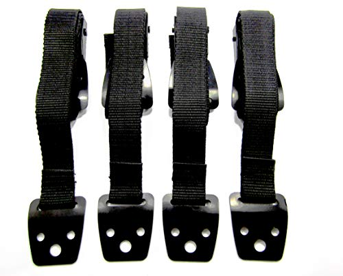 Anti Tip Furniture TV Safety Straps - NO PLASTIC! Easy Baby Proofing Installation - Adjustable METAL Clamps - Earthquake Preventative Protection - NO GLUE! Triple Stitched Nylon TESTED