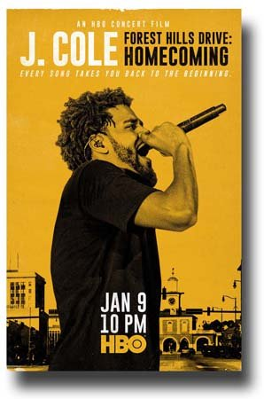 J. Cole Poster Concert Forest Hills Drive
