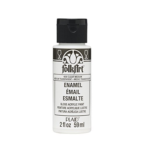 FolkArt Plaid:Craft Enamel Paint, 2-Ounce, Transparent Medium, Clear (Acrylic Enamel Clear)