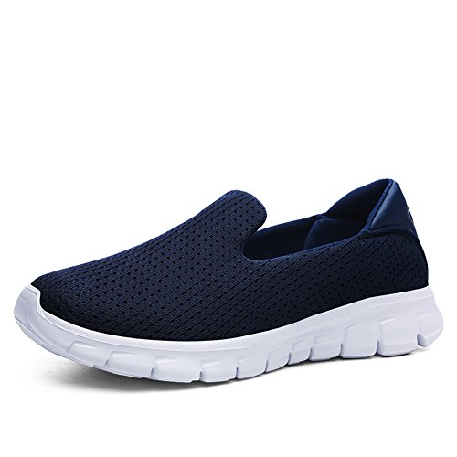 Sneakers Walking Women's Slip Flats Mesh Lightweight Greaten Loafers Navy Casual Shoes On pqqHI