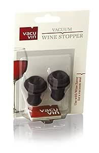 Rolha Vácuo Vinho Vacu Vin Com 2 Peças, Etna 412648, Preto Etna Preto
