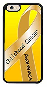Childhood Cancer Phone Case Back Cover (iPhone 6 Plus (5.5 inches)- TPU Rubber Silicone)