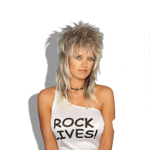 [WMU Rocker Wig, Yellow, One Size] (Tina Turner Wig)