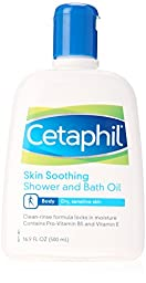Cetaphil Skin Soothing Shower and Bath Oil, 16.9 Ounce