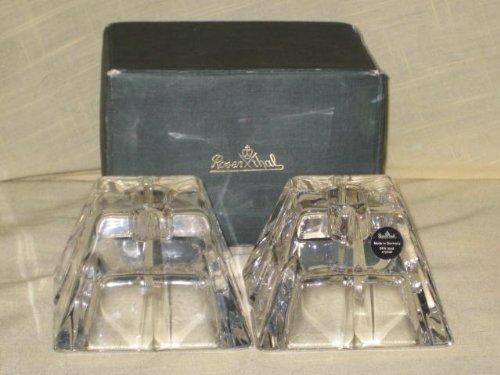 Rosenthal Candle (Vintage ROSENTHAL Crystal Madison Votive 2 Piece Candle Holder Set)