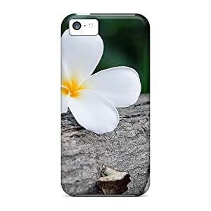 Awesome Case Cover/iphone 5c Defender Case Cover(white Frangipani)