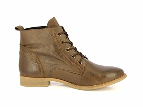 Pictures of ALBERTO TORRESI Leather Ankle BootsWomen Lace Up 7007 TAUPE 2