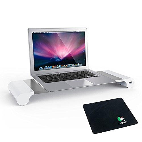Yaekoo-Aluminum-Computer-Monitor-Stand-Space-Bar-Laptop-Pc-Stand-Monitor-Dock-Desk-Organizer-Monitor-Riser-with-4-USB-Ports-Keyboard-Storage-for-PC-Laptop-iMac-MacBook