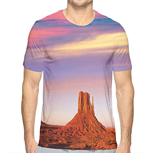 (3D Printed T Shirts,Monument Valley West Mitten and Merrick Butte Sunset Utah Desert)