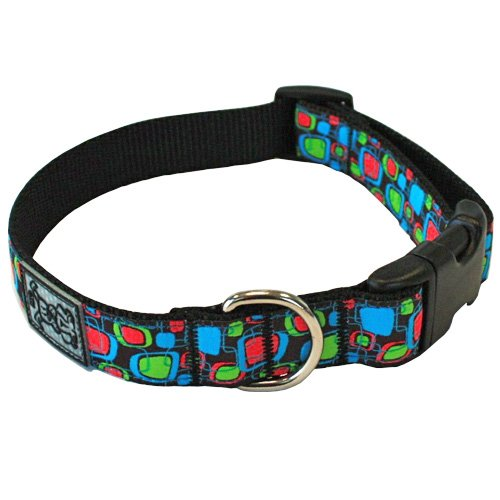 RC Pet Products 3/4-Inch Adjustable Dog Clip Collar, Small, Retro TV