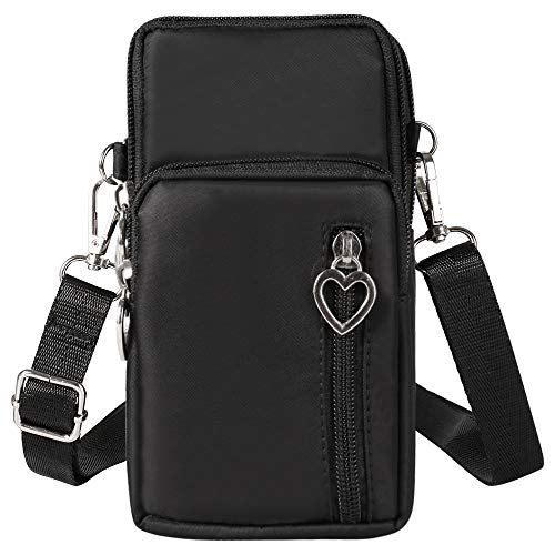 Small Women Cell Phone Crossbody Purse Wrist Wallet Sport Armband Bag For iPhone, Samsung Galaxy, LG, Motorola Moto, Google Pixel, Blu Vivo, Asus ZenFone, UMIDIGI Mobile Up to 6.5