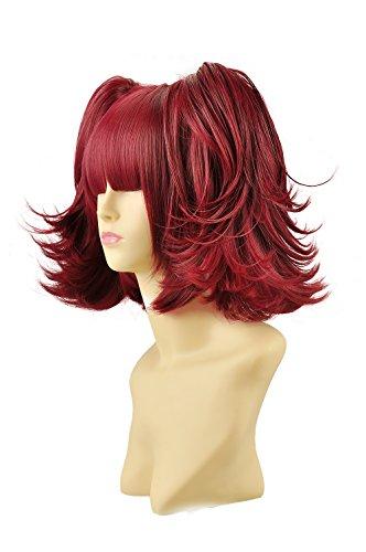 red and black split wig - 7