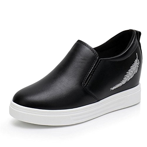 Transpirable Moda fondo hembra elegante grueso AJUNR de mujer Sandalias elegante Sandalias 5cm white de zapatos Ocio mayor Transpirable Moda EpgPqz
