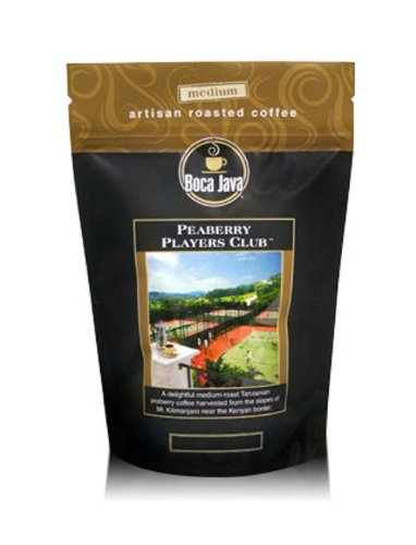 - Tanzanian Peaberry, Peaberry Players Club, 100% Specialty Arabica Coffee, Medium Roast, Whole Bean, 8oz (3 Pack)