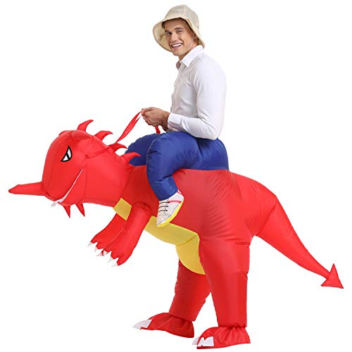 YEAHBEER Inflatable Dinosaur Costume T-Rex Fancy Dress