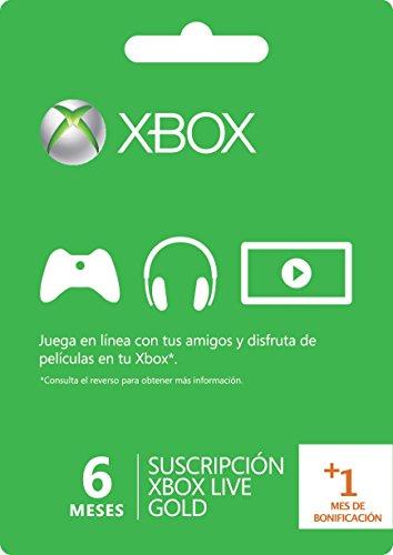 Membresía 6 Meses Xbox Live Gold + 1 Mes adicional - Standard Edition