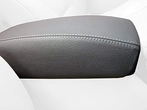 RedlineGoods armrest cover tailor-made for Volvo S70 1997-00 Sierra leather-Black thread