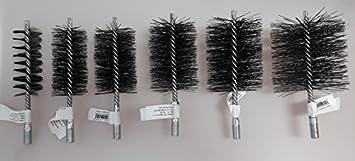 Cepillo de alambre de acero de forma definida, para limpiar chimenea, calderas, en