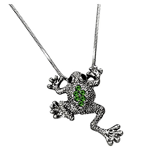 DianaL Boutique Adorable Little Frog Charm Pendant Necklace Gift Boxed Fashion - Frog Pendant Charm