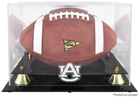 Mounted Memories Auburn Tigers Golden Classic Logo Football Display Case