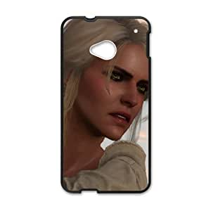 HTC One M7 Cell Phone Case Black The Witcher 3 Wild Hunt review Ciri BNY_6967412