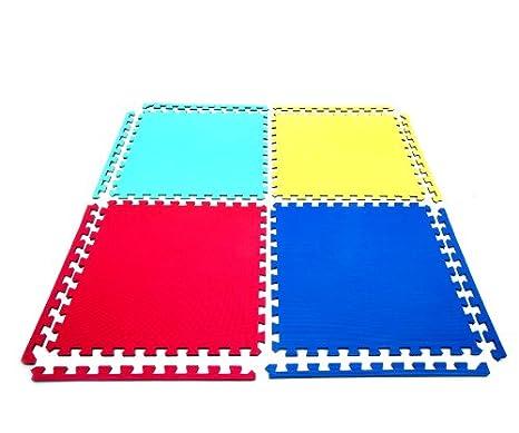 12 x Suelo Para Ninos Y Infantiles EVA Puzzle Colchonetas 60cm x 60cm x12mm