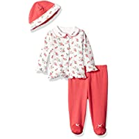 Little Me Baby Girls' 3 Piece Cardigan Set, Pink Floral, Newborn