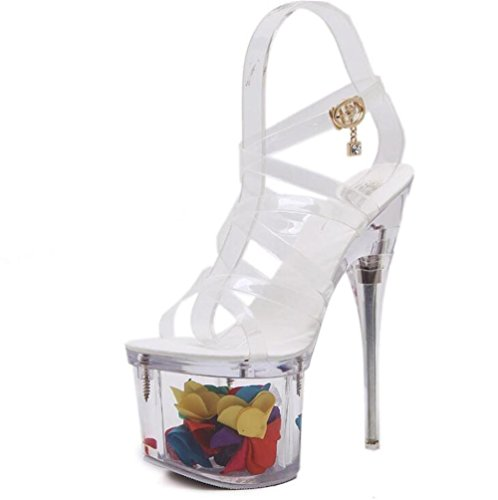 Criss cinghie Tacco Da 39 GAOGENX EU39 nbsp;Piattaforma sandali a Trasparente floreale spillo Club nbsp; Festa a 35 Attraversare Scarpe donna da HXrwaXxvOq