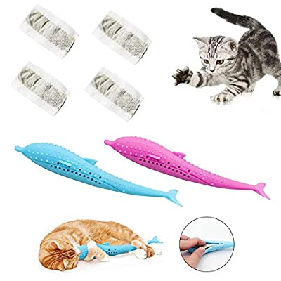 Toys for cats Pet Cat Fish Shape Toothbrush with Catnip Toys – Fish Flop... [tag]