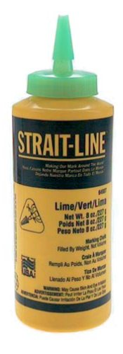 (IRWIN Tools STRAIT-LINE 64907 High-Visibility Marking Chalk, 8-ounce, Green (64907))