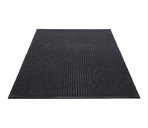 Guardian EcoGuard Indoor Wiper Floor Mat, Recycled Plastic and Rubber, 2'x3', Charcoal
