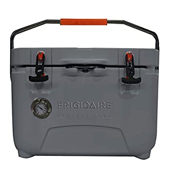 Image of Cooler Accessories Frigidaire Professional 25-Qt. Roto-Molded Hard Cooler with Built-in Thermometer, Graphite, FXHC2501-GRAPHITE